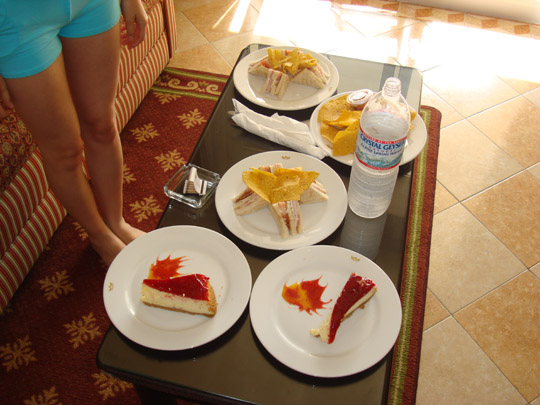 our first meal in Aruba